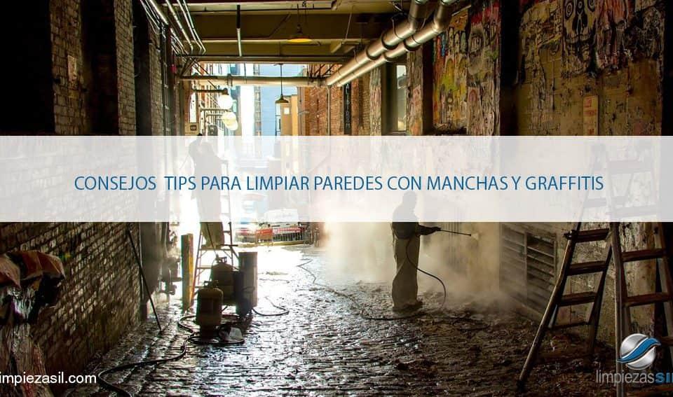 Limpiar paredes con manchas y graffitis