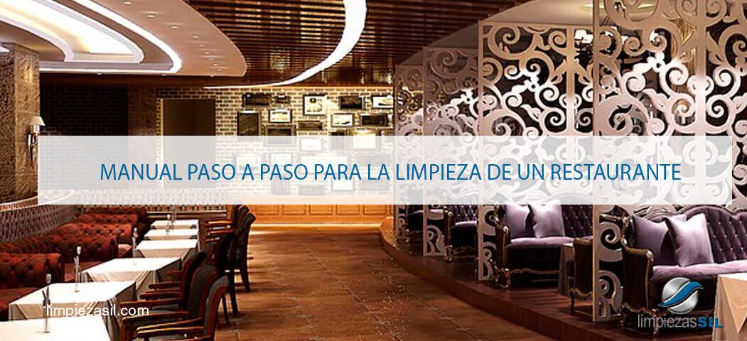 Manual paso a paso para la limpieza de un restaurante for Articulos para restaurantes