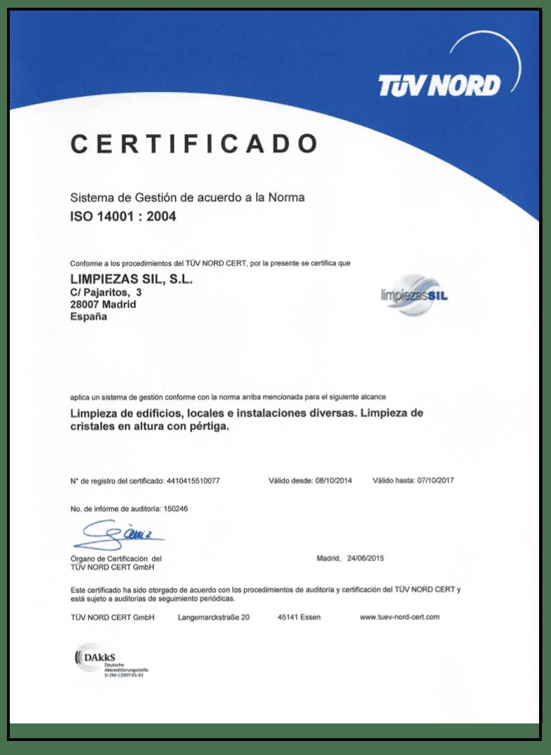 certificado 14001