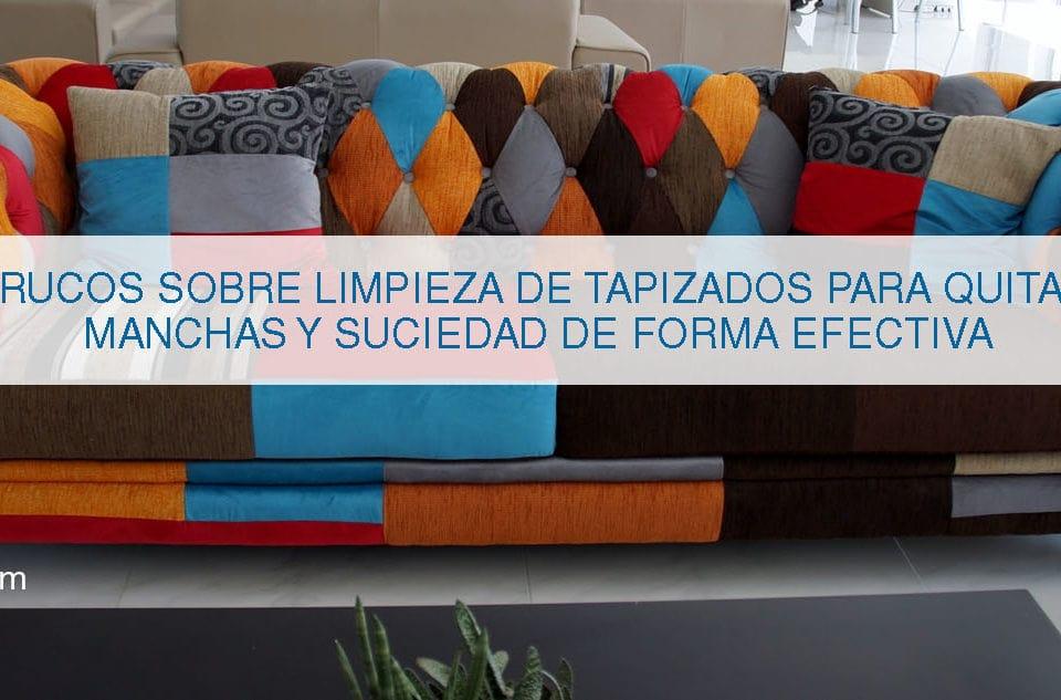 consejos para limpiar tapicería en sofás