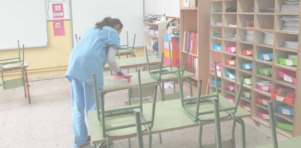 limpiar colegios