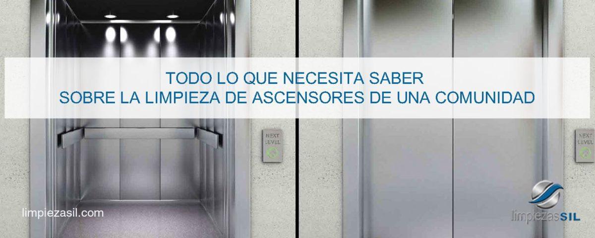 limpieza de ascensores