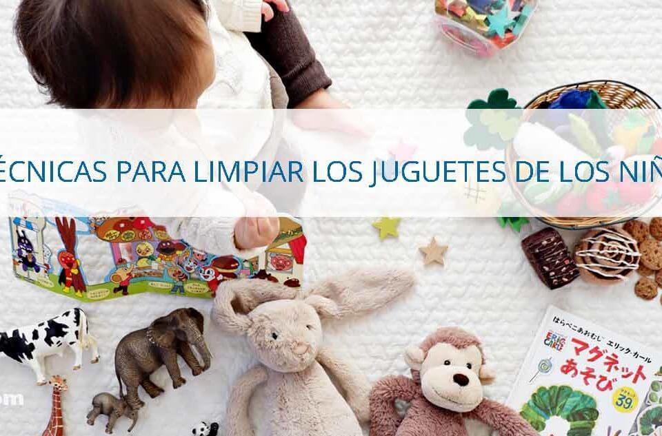 cómo limpiar los juguetes de los niños